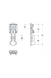 INAR-SAFETY TYPE (D) STRAIGHT RECEPTACLES 6,3