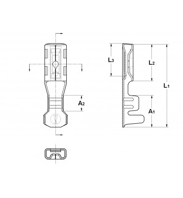 INAR-LIF STRAIGHT RECEPTACLES 2,8