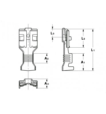 INAR-JET STRAIGHT RECEPTACLES 6,3