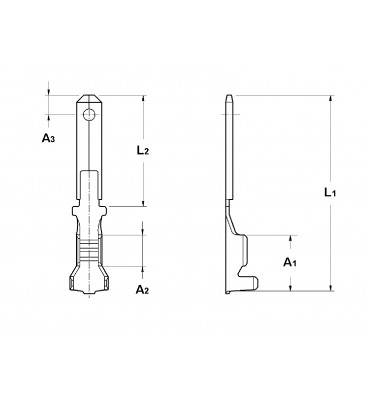 WIRE CRIMP TABS 2,8 WITH HOLE