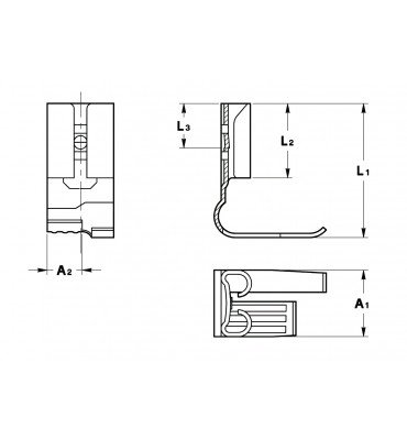 FLAG TYPE RECEPTACLES 4,8 ROLLED