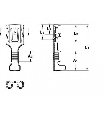 INAR-SAFETY TYPE (C) STRAIGHT RECEPTACLES 6,3