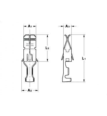 INAR-TC LOW INSERTION TERMINALS