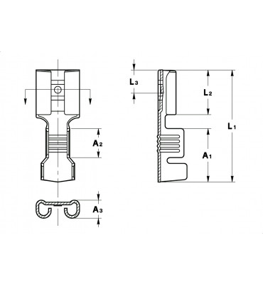 STRAIGHT RECEPTACLES 6,3