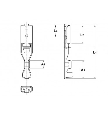 INAR-SAFETY TYPE (A) STRAIGHT RECEPTACLES 2,8