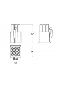 INAR-MINILOCK UNIVERSAL HOUSINGS MALE 9 POSITION
