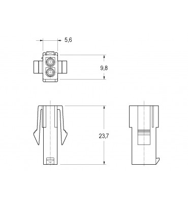 INAR-MINILOCK UNIVERSAL HOUSINGS FEMALE WITH LOCK 2 POSITION