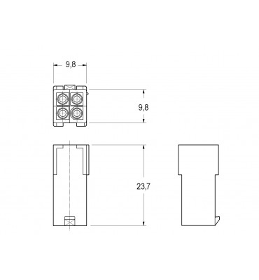 INAR-MINILOCK UNIVERSAL HOUSINGS FEMALE 4 POSITION