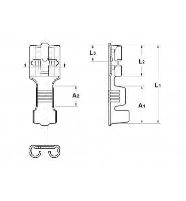 INAR-LIF TYPE (A) STRAIGHT RECEPTACLES 6,3