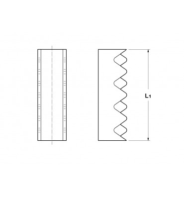 SPLICE WITH ROUND CRIMPING WITHOUT INSULATION CRIMPING