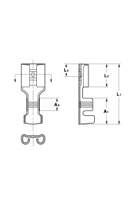 INAR-SPLICE STRAIGHT RECEPTACLES 6,3