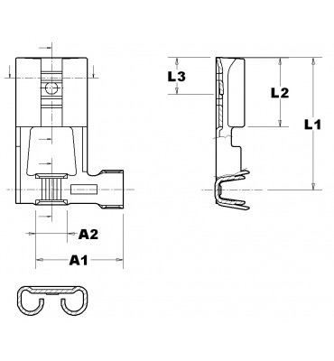 FLAG TYPE RECEPTACLES 6,3