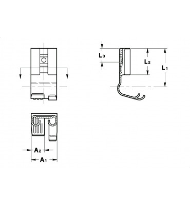 FLAG TYPE RECEPTACLES 6,3 ROLLED