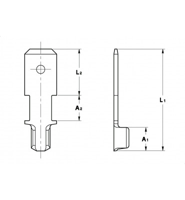 WIRE CRIMP TABS 6,3 WITHOUT INSULATION CRIMPING
