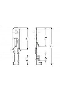 WIRE CRIMP TABS 5 FOR MULTI-WAY CONNECTIONS (WITH LOCKING LANCE)