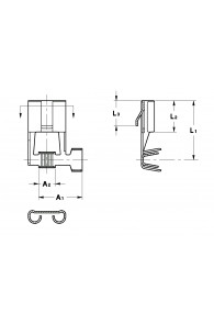 FLAG TYPE RECEPTACLES 7,8 FOR MULTI-WAY CONNECTIONS (WITH LOCKING LANCE)