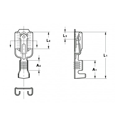 INAR-SAFETY TYPE (B) STRAIGHT RECEPTACLES 6,3