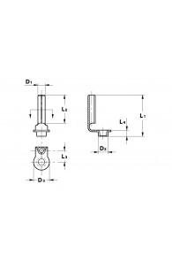 CYLINDRICAL TERMINALS WITH RIVET