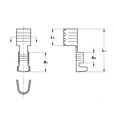 DOUBLE TERMINALS FOR PIPES