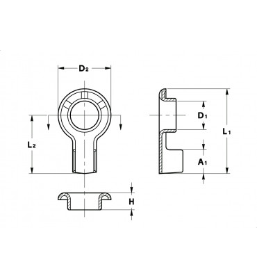 RING TERMINALS NON-INSULATION SUPPORT (WITHOUT SERRATIONS - EXTRUDED)