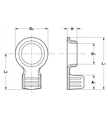 RING TERMINALS NON-INSULATION SUPPORT (EXTRUDED)