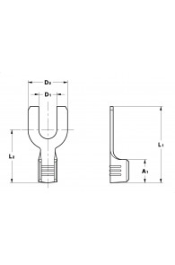 FORK TERMINALS NON-INSULATION SUPPORT