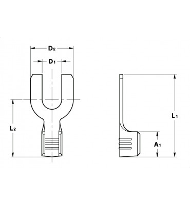 FORK TERMINALS WITHOUT INSULATION CRIMPING