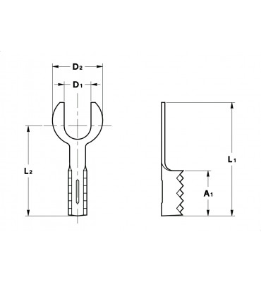 FORK TERMINALS ROUND WITHOUT INSULATION CRIMPING