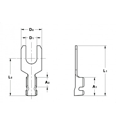 FORK TERMINALS WITHOUT SERRATIONS