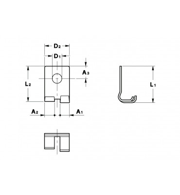 FLAG TYPE RING TERMINALS LEFT SQUARE