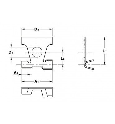 FLAG TYPE RING TERMINALS LEFT SPECIAL