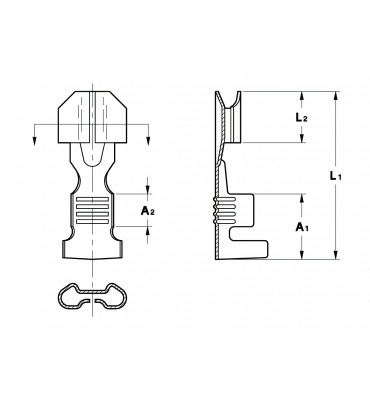 STRAIGHT RECEPTACLES 5 LOW INSERTION