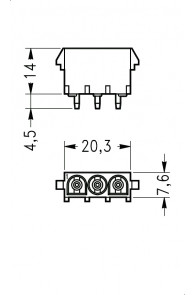 INAR-LOCK HOUSINGS FOR PC BOARD WITH SOCKETS 3 POSITION