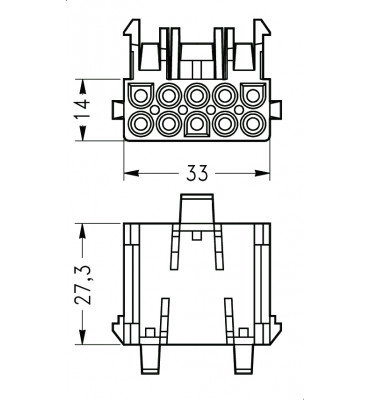 INAR-LOCK UNIVERSAL HOUSINGS FEMALE 10 POSITION FOR MOTORS