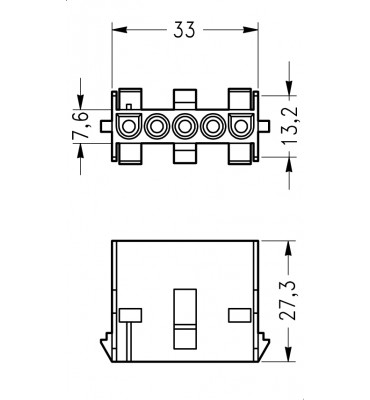 INAR-LOCK UNIVERSAL HOUSINGS FEMALE 5 POSITION