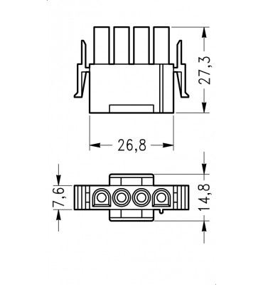 INAR-LOCK UNIVERSAL HOUSINGS MALE 4 POSITION