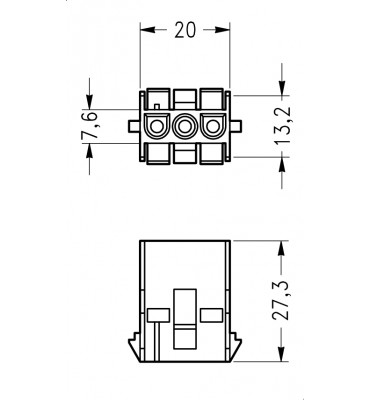 INAR-LOCK UNIVERSAL HOUSINGS FEMALE 3 POSITION