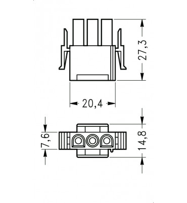 INAR-LOCK UNIVERSAL HOUSINGS MALE 3 POSITION