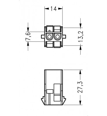 INAR-LOCK UNIVERSAL HOUSINGS FEMALE 2 POSITION