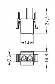 INAR-LOCK UNIVERSAL HOUSINGS MALE 2 POSITION