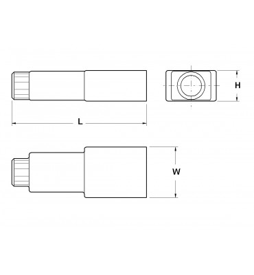 SLEEVES FOR STRAIGHT RECEPTACLES 4,8 REAR INSERTION