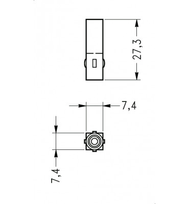 INAR-LOCK UNIVERSAL HOUSINGS MALE 1 POSITION