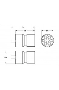 INAR-LOCK STANDARD HOUSINGS FEMALE 6 POSITION CIRCULAR
