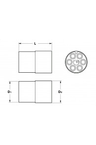 INAR-LOCK STANDARD HOUSINGS MALE 6 POSITION CIRCULAR