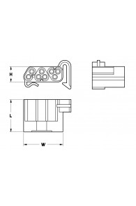 INAR-LOCK STANDARD HOUSINGS FEMALE 8 POSITION