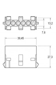 INAR-LOCK UNIVERSAL HOUSINGS FEMALE 6 POSITION