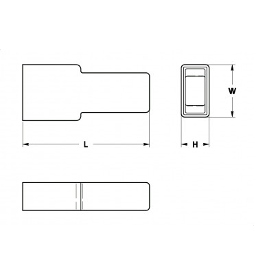 SLEEVES FOR STRAIGHT RECEPTACLES 6,3 REAR INSERTION