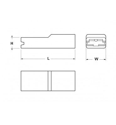 SLEEVES FOR STRAIGHT RECEPTACLES 6,3 FRONTAL INSERTION