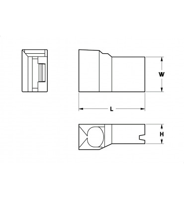 SLEEVES FOR FLAG TYPE RECEPTACLES 6,3 FRONTAL INSERTION