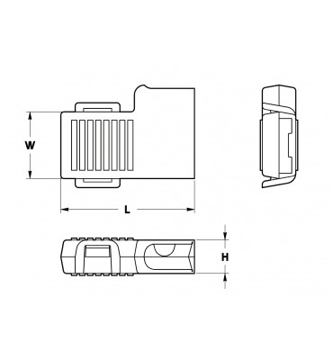SLEEVES FOR FLAG TYPE RECEPTACLES 6,3